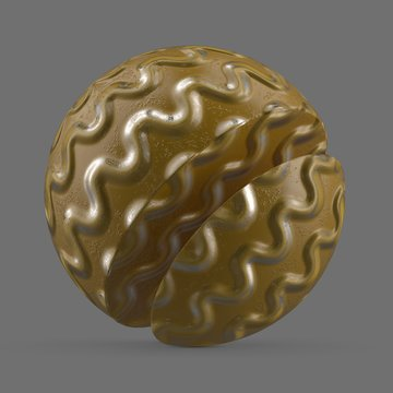 Gold wavy rubber