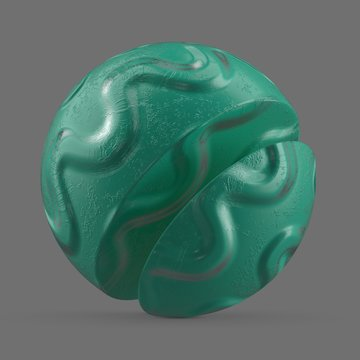 Turquoise wavy rubber