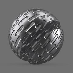 Large oblong metal mesh