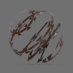 Rusty razor wire 2