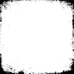 Grunge Black And White Urban Vector Texture Template.