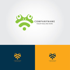 head frog abstract logo