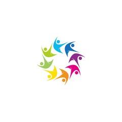 colorful teamwork logo