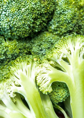 Detail of the succulent fresh inside the Broccoli
