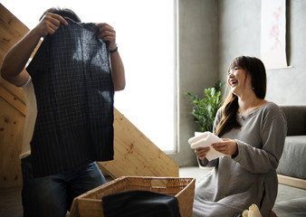 Japanese husband and wife
