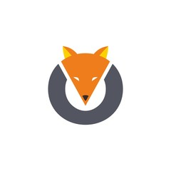 circle fox head logo