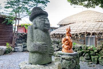 Dol hareubang - symbol of Jeju island, Korea