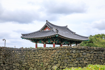 The Seongeup Folk Village in Seogwipo in the Jeju Special Administrative Province, South Korea