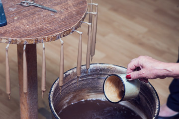 Antique way of making candles