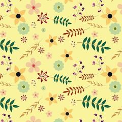 floral pattern vector desgin