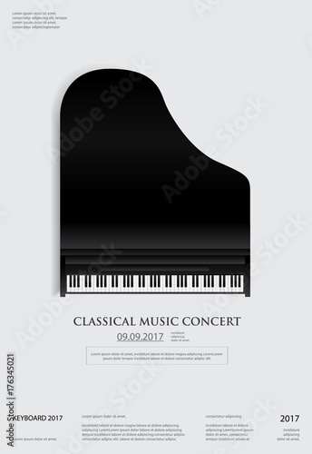 music grand piano poster background template stock image and