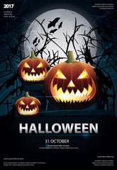 Halloween Poster Template Design Vector Illustration