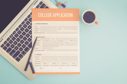 COLLEGE APPLICATION CONCEPT
