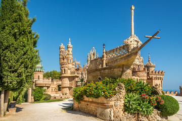 Foto op Textielframe Kasteel View at the Colomares castle in Benalmadena, dedicated of Christopher Columbus - Spain