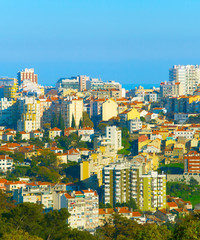 Autocollant pour porte Delhi Lisbon architecture, Portugal