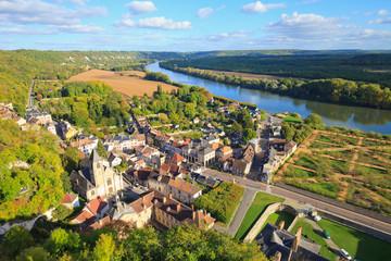 La roche-guyon vue du donjon, val d'Oise