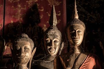 Old Buddha Sculptures Wat Xieng thong, Luang Prabang, Laos