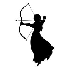 Elf silhouette ancient mythology fantasy