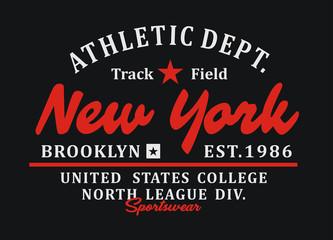 New York Typography Design T-shirt Graphic