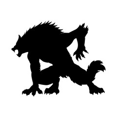 Werewolf silhouette ancient mythology fantasy