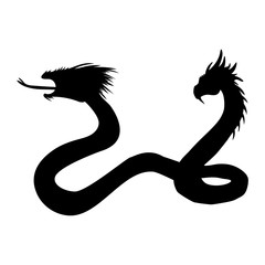 Serpent two headed silhouette ancient mythology fantasy