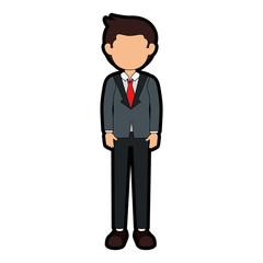 businessman avatar character icon