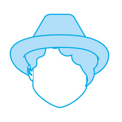 silhouette default avatar woman to social user
