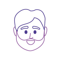 line avatar man head to social user