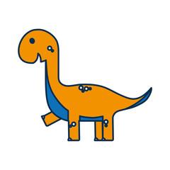 cute dinosaur icon over white background vector illustration