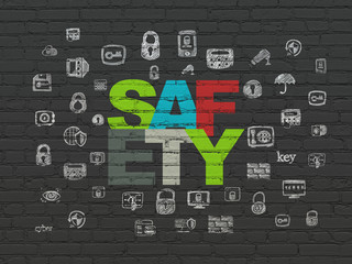 Privacy concept: Safety on wall background