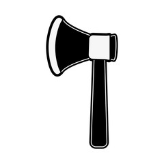 axe tool icon image vector illustration design  black and white