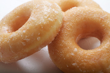 Sugar glazed doughnuts