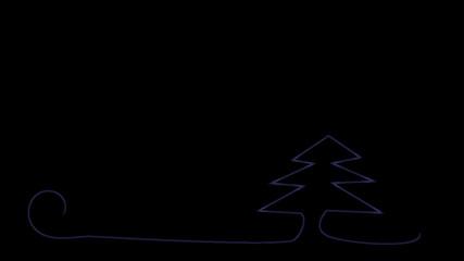 Tannenbaum neon blau schwarz