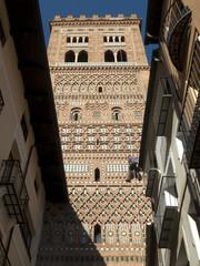 Mudejar Tower of El Salvador in Teruel, Aragon, Spain