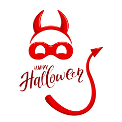 Halloween theme with elements of devil costume