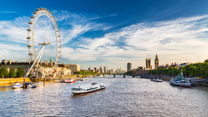 Canvas Prints London Westminster Parliament and the Thames