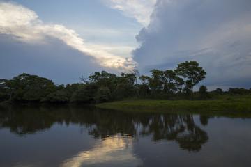 Gewitterfront ueber dem Pantanal