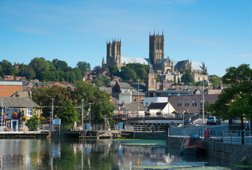 Lincoln Cathedral and Brayford waterfront Fotomurales