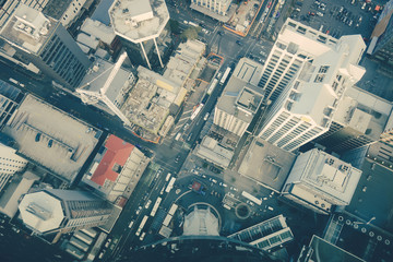 Auckland buildings aerial view, New Zealand