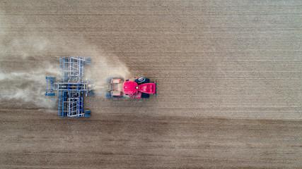 Luftbild Traktor