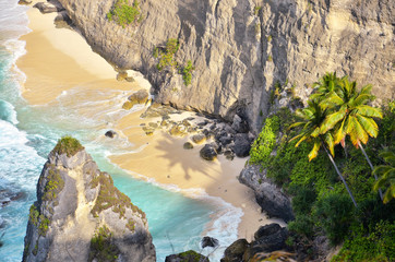 Secret beach in Nusa Penida island, Klungkung regency, Bali, Indonesia