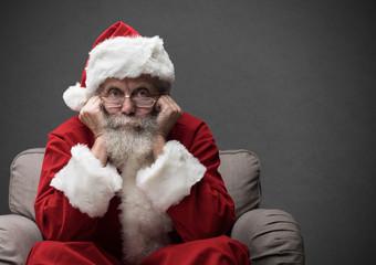 Santa Claus waiting for Christmas
