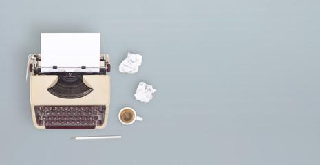 overhead retro typewriter banner