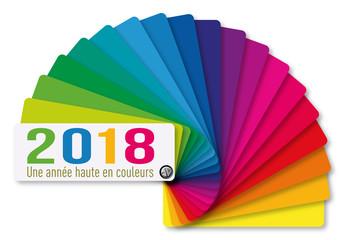 2018 - année - carte de vœux - vœux - peinture -peintre - nuancier