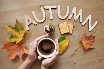 autumn mood composition background