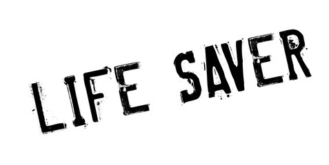 Life Saver rubber stamp. Grunge design with dust scratches. Effects can be easily removed for a clean, crisp look. Color is easily changed.