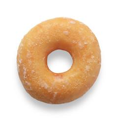 Doughnut on white