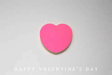 Paper Valentines day gift card on white