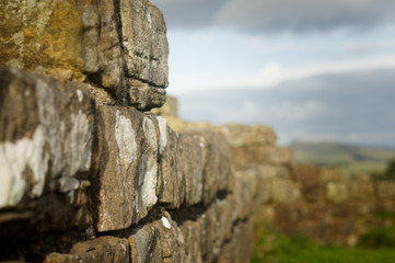 Close up Hadrian's Wall
