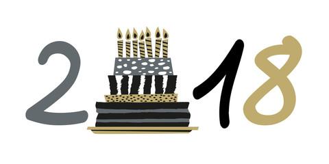 2018 - anniversaire - gâteau d'anniversaire -invitation - fête - entreprise